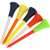 50 Plastic & Rubber Cushion Top Golf Tees 83mm Fast Dispatch