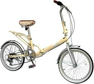 TRAILER(トレイラー) 20インチ折畳み自転車 リアサスペンション シマノ6段変速付 ヘブンズ アイボリー BF-S620-IV