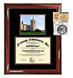 新しいJersey City大学卒業証書マット加工卒業式度フレームnjcuカレッジキャンパスフォト卒業ギフト証明書Plaque Framing Collegiate Diploma Size - Up to 8.5 x 11 レッド FA31-NJCU-85x11