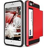 iPhone 6s / 6 ケース カード収納 VERUS Damda Slide 背面 カード ケース 耐衝撃 二重構造 衝撃吸収 カバー [ アイフォン 6s / 6 専用 ] クリムゾンレッド