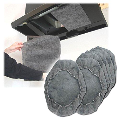 [해외][깊이 형식 레인지 후드 전용] 검은 모자 레인지 필터 (6 장) A-08-B/[Deep type range hood exclusive use] Black cap range filter (6 pieces) A ??- 08 - B