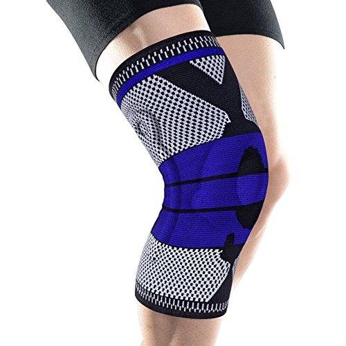 【改良版】膝サポーター スポーツ 保温 薄型 男女兼用 左右兼用 膝蓋骨固定 関節靭帯保護 3D一体縫製 通気性抜群 XL