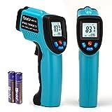 Peralng 赤外線放射温度計 非接触 デシタル測定器 -50℃~+550℃/-58°F~1022°F 電池付き
