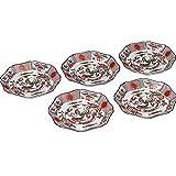 和食器 九谷焼 小皿5枚セット 赤絵鳳凰 AK5-0146