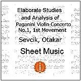 セヴシック (セブシック) 楽譜 pdf パガニーニ ヴァイオリン協奏曲第1番第1楽章の分析的演習