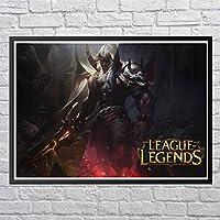 伝説のリーグのゲームポスター、クールなゲームキャラクター、インポートされたアートデコレーション、あなた自身やeスポーツを愛する友人への最高の贈り物12x10インチ