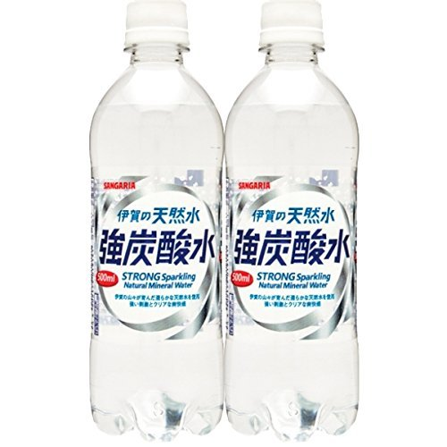 【2CS】サンガリア伊賀の天然水 強炭酸水500ml×48本 日本サンガリア