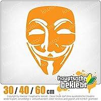 Anonymous mask - 3つのサイズで利用できます 15色 - ネオン+クロム! ステッカービニールオートバイ