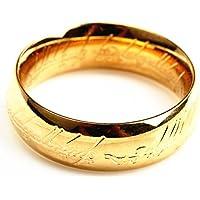 「silverKYASYA」ロードオブザリング ホビット The One Ring ゴールドコーティング メンズ リング 思いがけない冒険 リング プレゼント (15号)