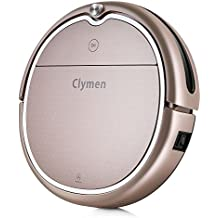 Clymen Q8 Robot Vacuum Cleaner 3 in 1 with Voice Control, Robotic Vacuum Cleaner for Pets with 2D Navigation, Connects to WiFi and Compatible with Alexa App, Adapts to Different Floors, Champagne