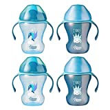 Tommee Tippee Trainer Sippee Cup, Blue, 8 Oz, 7+ Months, 4 Count