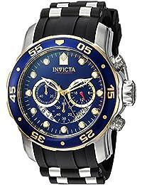 インヴィクタ Invicta Men's 'Pro Diver' Quartz Stainless Steel and Silicone Casual Watch, Color:Black (Model: 22971) [並行輸入品]