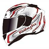 オージーケーカブト(OGK KABUTO)バイクヘルメット フルフェイス KAMUI3 CIRCLE(サークル) パールホワイトレッド (サイズ:L) 585648
