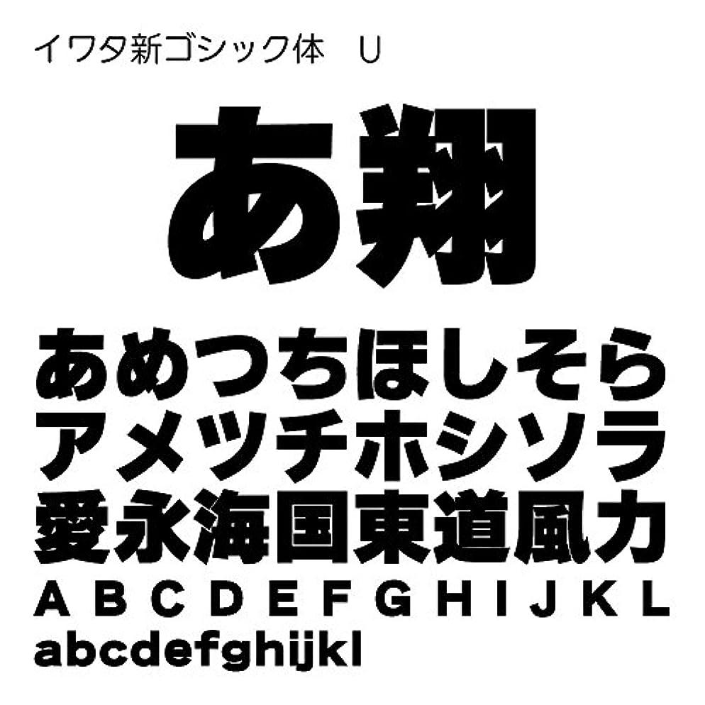 私達規制する不安定なイワタ新ゴシック体U TrueType Font for Windows [ダウンロード]