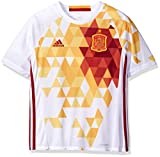 adidas ジャージ (Spain, Small, White/Power Red F) - Adidas Youth International Soccer Jersey
