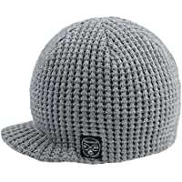 Born to Love Baby Boy's Black and Gray Checkered Visor Beanie Baby Hat