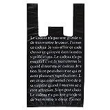 手提げ袋 レジ袋 ブラックフレンチ-M (100枚) BFR-M