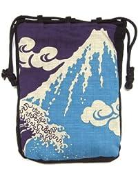 【日本製】 和風布物 縁起物づくし 開運 日本巾着 富士山 巾着袋 大