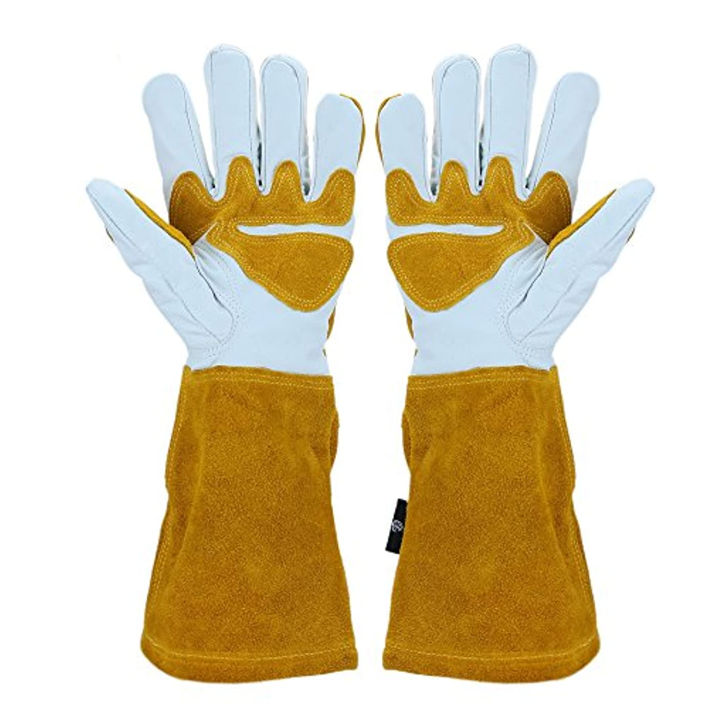 秋蓄積する決定する耐熱革手袋 アウトドア耐熱グローブ 裏起毛 牛革 キャンプ 溶接用革手袋 薪ストーブ BBQ手袋 防寒