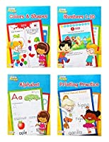 Fisher Price Little People Preschool Workbooks ? Alphabet Numbers Printing Practice Colors & Shapes ? Set of 4 [並行輸入品]