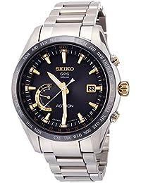 [アストロン]ASTRON 腕時計 ASTRON GPSソーラー電波 ワールドタイム機能 チタンモデル ブラック文字盤 SBXB087 メンズ