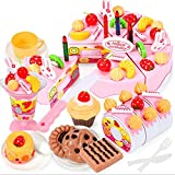 Blackfell 木製の赤ん坊の台所のおもちゃふり遊びカットケーキ遊び食べ物子供のおもちゃ木製の果物料理おもちゃ