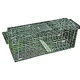 動物捕獲器 有害動物捕獲 330x350x920mm(約) 大 前後対応 折りたたみ式 ノネコ 猫 狸 【農業 作物 対策】