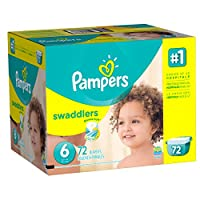 Pampers Swaddlers Diaper Size 6 Giant Pack 72 Count by Pampers