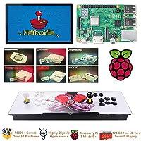 Raspberry Pi 3 Model B +(B Plus)アーケードキャビネットマシンビデオゲームコンソール完全キットフルセットRetroPie Emulation Station ES、18000 +ゲーム(128GB EVO +)2 GPIOジョイスティック