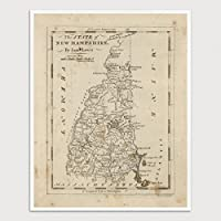 Old New Hampshire Map Art Print Archival Reproduction [並行輸入品]