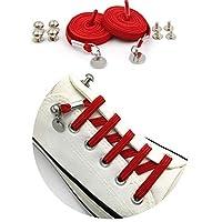 W. DRIZZLE 伸縮性 結ばない靴ひも 片手バックル靴ひも 子供/大人用