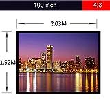 ELEGIANTプロジェクタースクリーン 100インチ(16:9)ホームHDプロジェクター用ホワイトポータブルフォールドファブリックDIYプロジェクタースクリーン 11