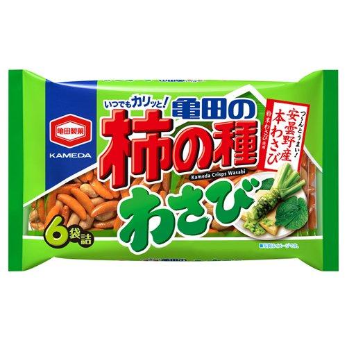 亀田製菓 亀田の柿の種 わさび 6袋入 【5個セット】