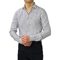 GUY ROVER リネン ストライプ柄 セミワイド シャツ [並行輸入品]