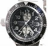 [シーレーン]SEALANE 腕時計 20BAR クロノグラフ メタル SE28-MBK メンズ