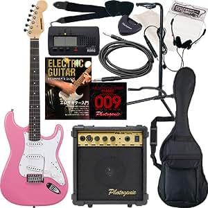SELDER エレキギター ストラトキャスタータイプ ST-16 初心者入門13点セット /ピンク(9707001051)