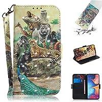 ケース 手帳型 3D彩絵 PUレザー ケース カード収納 スタンド機能付き マグネット式 用 財布型 カバー Samsung Galaxy A20E 用 (1)