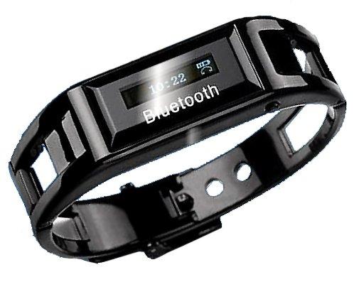 Bluetooth 搭載 着信 通知 ブレスレット 腕時計 【ブラック】 iPhone Android 対応