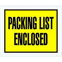 Partners Brand PPL401 Packing List Enclosed Envelopes Full Face 4 1/2 x 5 1/2 Yellow (Pack of 1000) [並行輸入品]