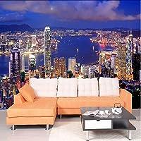 Xbwy カスタム壁画壁紙美しい街の建物夜の風景3D壁壁画リビングルームのソファ背景壁の家の装飾フレスコ画-120X100Cm