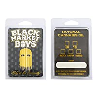 ブラックMarket Boys空オイルDistillate Clamshells子Resistant Packaging Cannabis準拠粉砕ラベルcl-006 50 ブラック