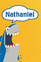 """Nathaniel: Personalized Shark Draw and Write Diary journal notebook featuring 120 pages 6""""x9"""""""