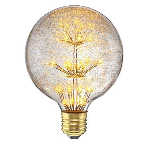 エジソン電球 鳥の巣スタイル フィラメント電球 ガラスライト KINGSO エジソン バルブ Edison Bulb 白熱電球 ガラスバルブ レトロ電球 ホーム照明 黄光2300K E26 E27 3W 110V 110-120LM