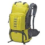 Mardingtop [2016 NEW] 45L+5L 撥水 ハイキングディバッグ キャンプバッグパック旅行 アウトドアクライミングスクール リュック ザック レインカバー付き -5901 (イエロー)