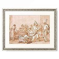 ジョヴァンニ・バッティスタ・ティエポロ Giovanni Battista Tiepolo 「The Nursing of Punchinello. 1790-1804」 額装アート作品
