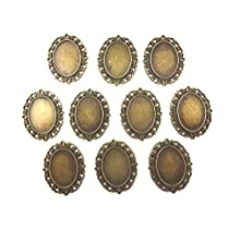 【HARU雑貨】金古美 ミール皿 10枚セット/楕円 鏡調 中/セッティング/レジンアクセサリーに 33