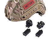 OneTigris FAST/MICHタイプに ヘルメットアクセサリー レールに対応 マウントセット レプリカ サバゲー (ブラック)