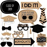 Bright Future - 2018 Graduation Photo Booth Props Kit - 20 Count
