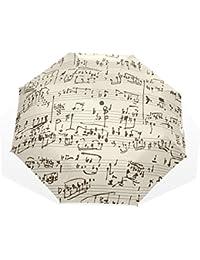 AOMOKI 折り畳み傘 折りたたみ傘 手開き 日傘 三つ折り 梅雨対策 晴雨兼用 UVカット 耐強風 8本骨 男女兼用 音楽 ミュージック