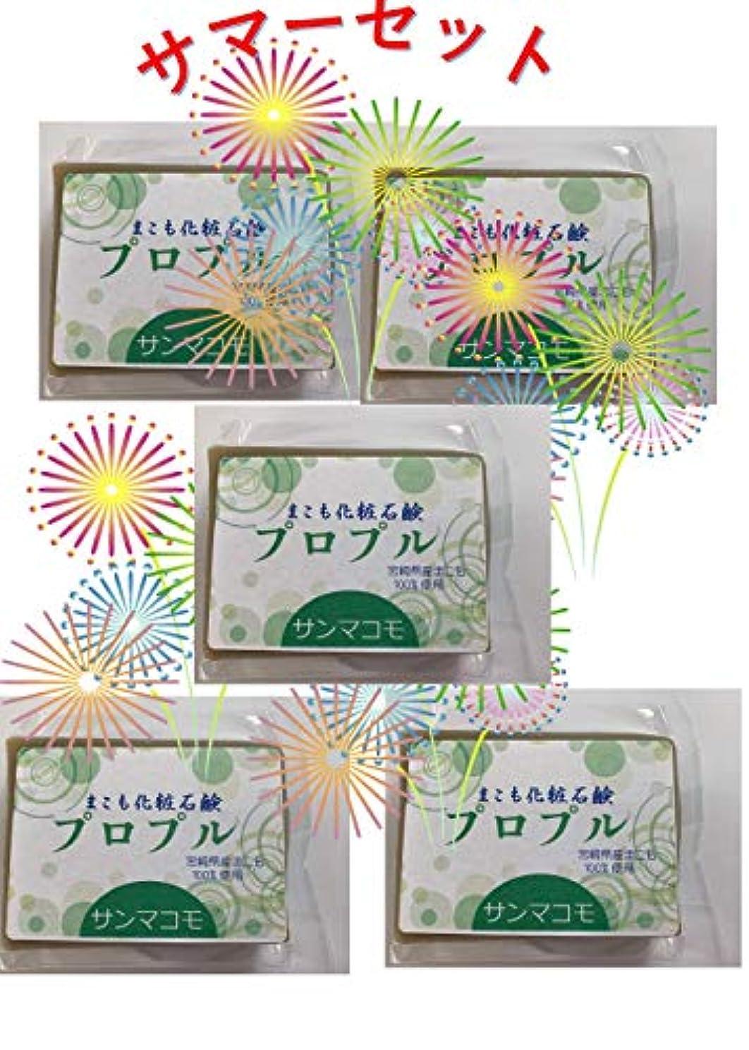 病コンサルタントソケットまこも化粧石鹸 プロプル 90g 5個セット